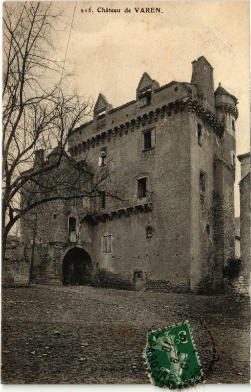 Carte postale ancienne Chateau de Varen à Varen
