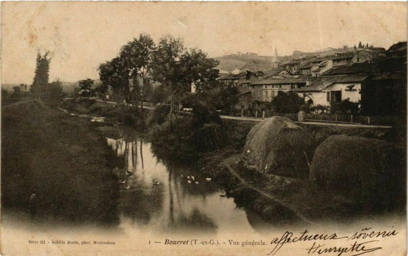Carte postale ancienne Bourret Vue générale à Bourret