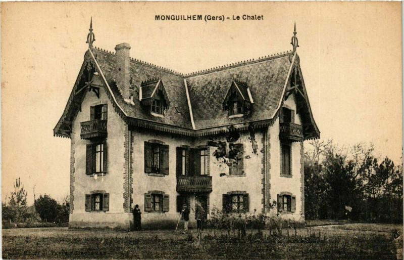 Carte postale ancienne Monguilhem - Le Chalet à Monguilhem