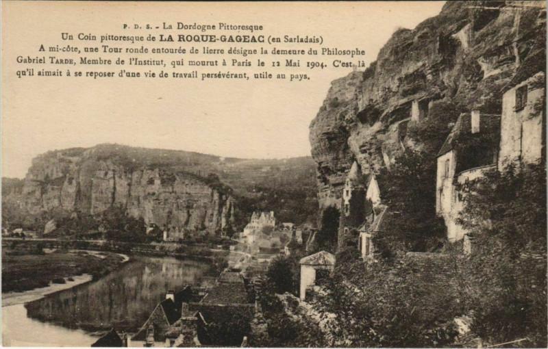 Carte postale ancienne La Roque-Gageac - Vue - View - En Sarladais à La Roque-Gageac