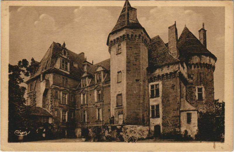Carte postale ancienne En Perigord - Les Chateaux Bergeracois - Chateau de Lanquais à Lanquais