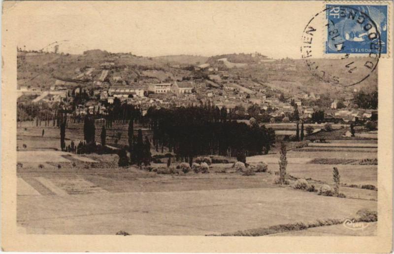 Carte postale ancienne Saint-Cyprien - Vue Generale et sa Magnifique Plaine à Saint-Cyprien