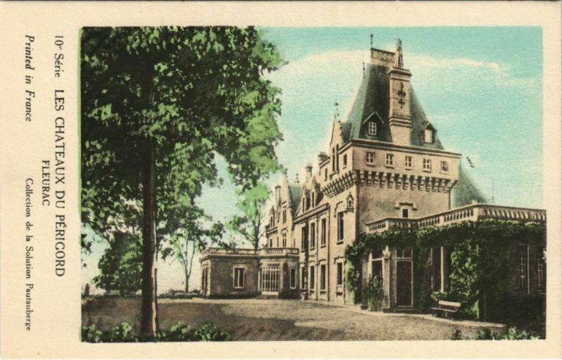 Carte postale ancienne Les Chateaux du Perigord - Fleurac à Fleurac
