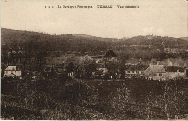 Carte postale ancienne Tursac - Vue Generale à Tursac