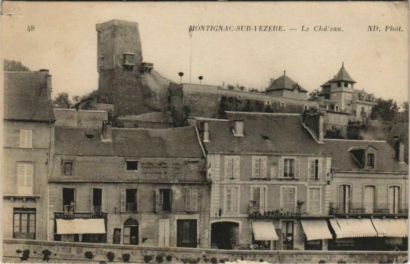 Carte postale ancienne Montignac-sur-Vezere - Le Chateau à Montignac
