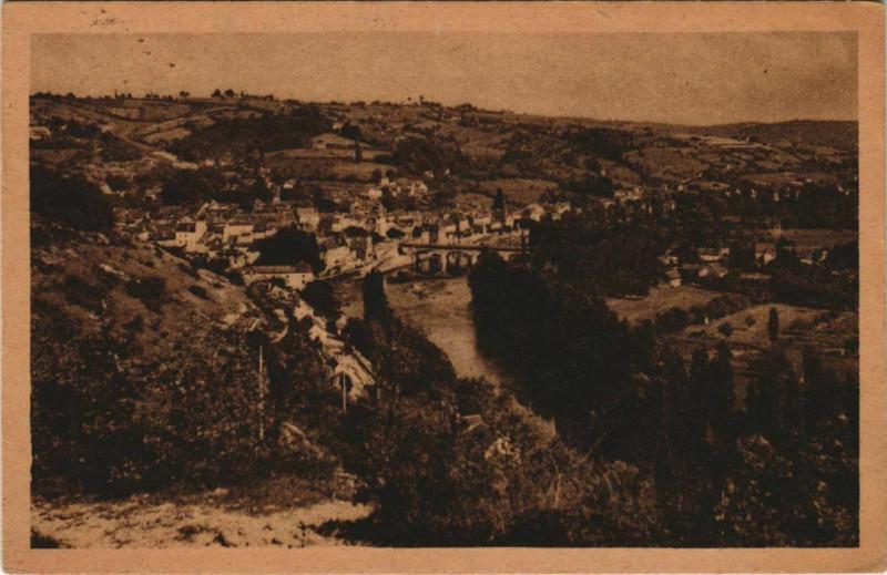 Carte postale ancienne Le Bugue - Vue Generale au Bugue