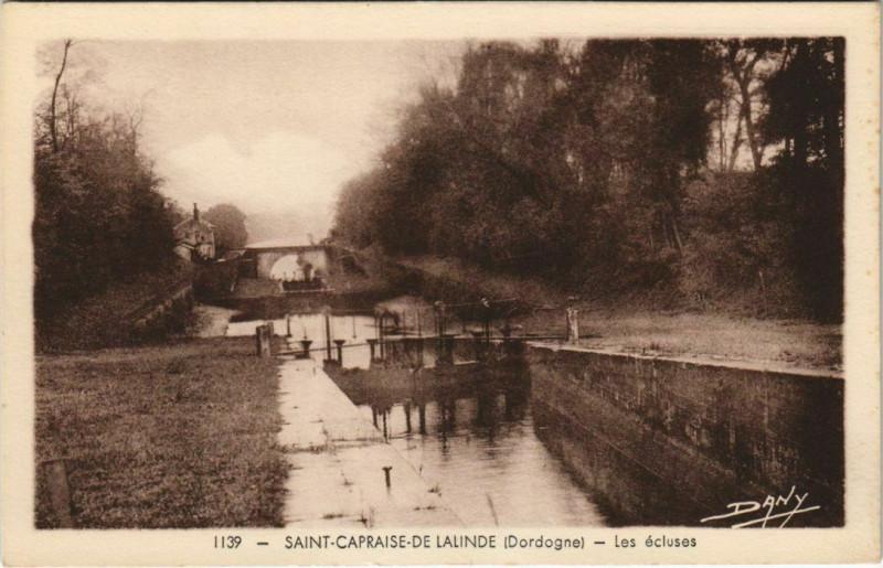 Carte postale ancienne Saint-Capraise-de-Lalinde - Les Ecluses à Saint-Capraise-de-Lalinde