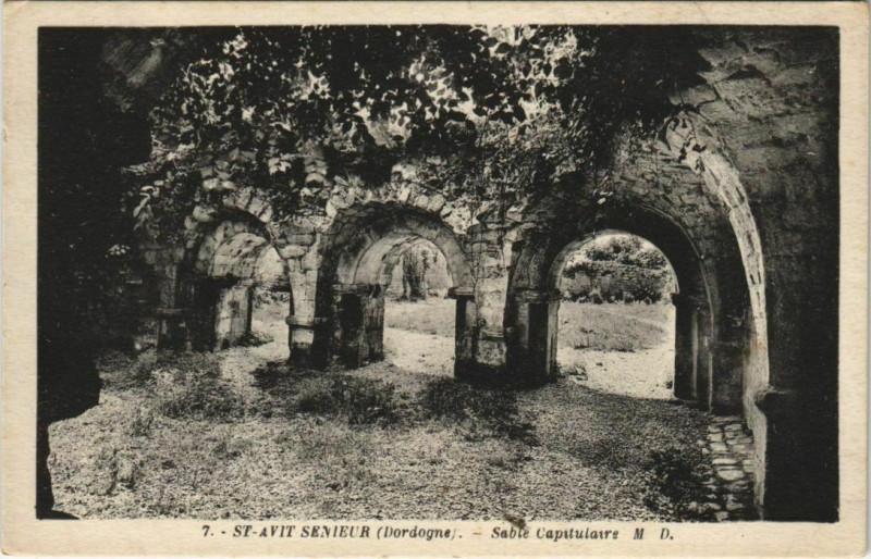 Carte postale ancienne Saint-Avit-Senieur - Sable Capitulaire à Saint-Avit-Sénieur