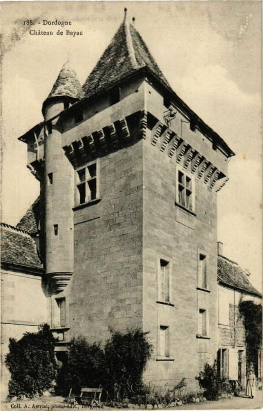 Carte postale ancienne Dordogne - Chateau de Bayac à Bayac