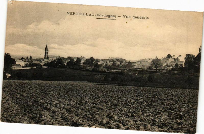 Carte postale ancienne Verteillac-Vue générale à Verteillac