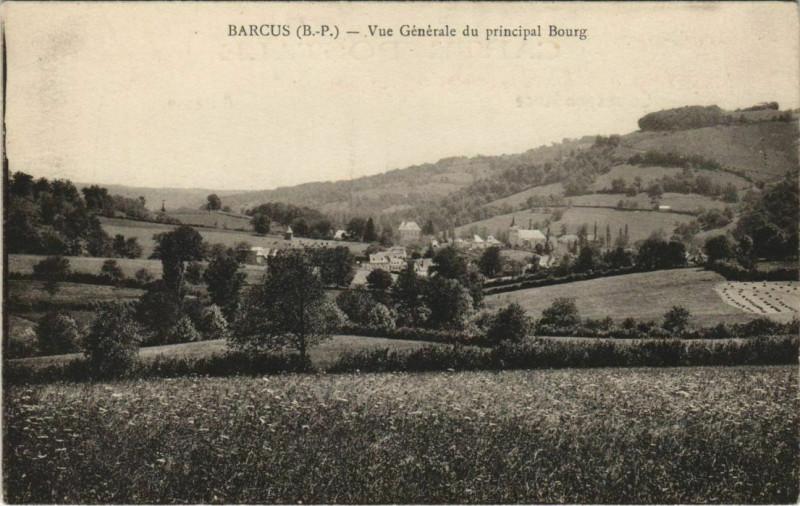 Carte postale ancienne Barcus Vue Generale à Barcus