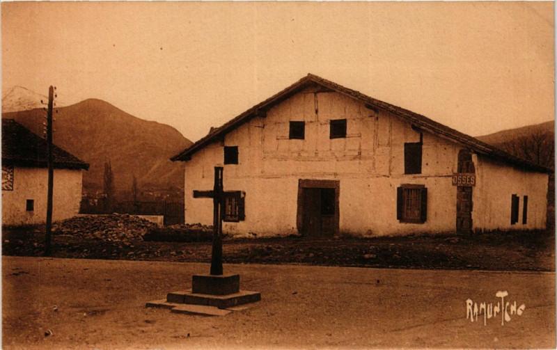 Carte postale ancienne Le Pays Basque - Osses (Route de Bayonne a Saint-Jean-Pied-de-Port) à Ossès