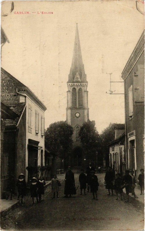 Carte postale ancienne Garlin - L'Eglise à Garlin