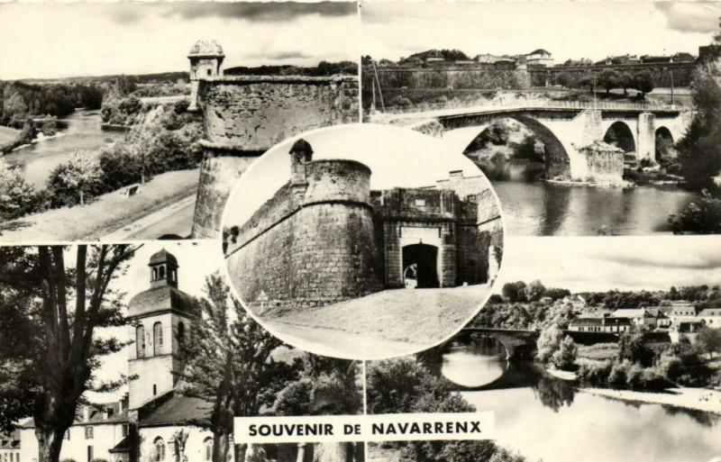 Carte postale ancienne Souvenir de Navarrenx - Pont sur le Gare à Navarrenx