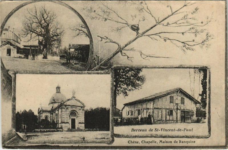 Carte postale ancienne Berceau de Saint-Vincent-de-Paul à Saint-Vincent-de-Paul