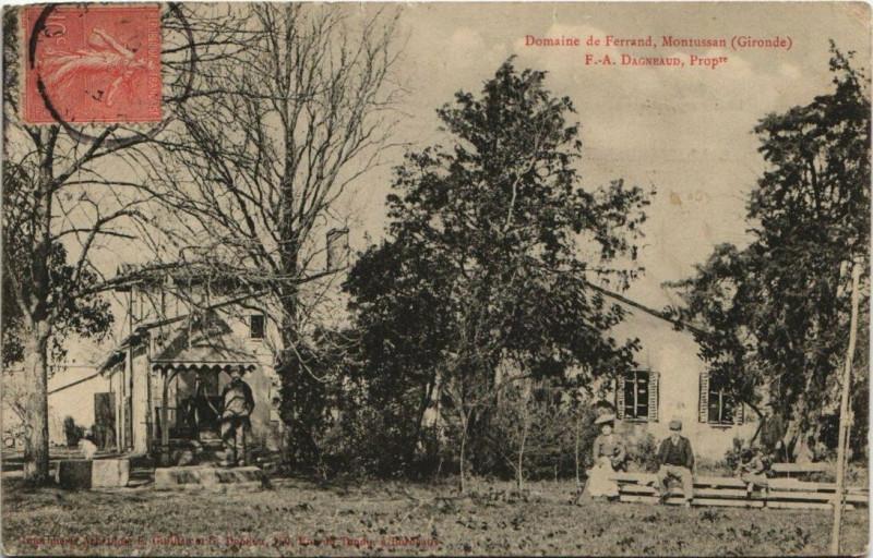 Carte postale ancienne Domaine de Ferrand-Montussan à Montussan