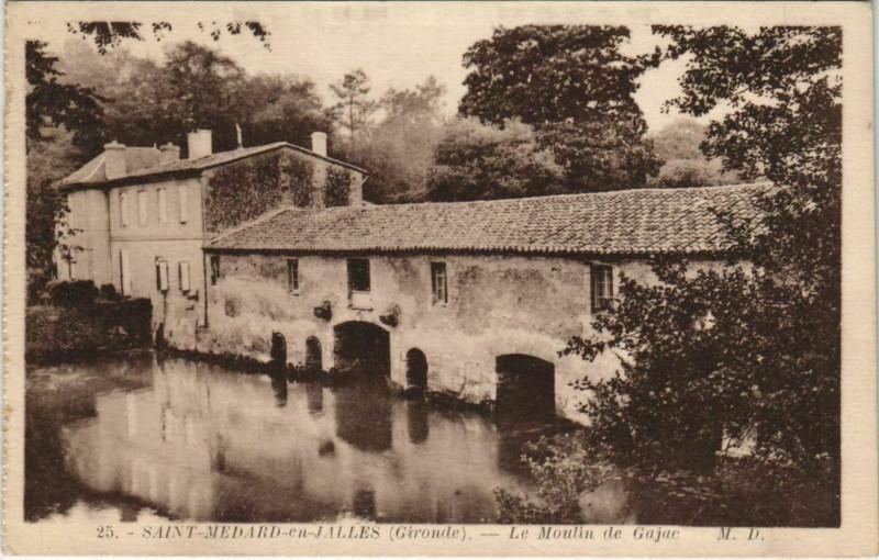 Carte postale ancienne Saint-Medard en Jalles-Le Moulin de Gajac à Gajac