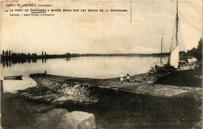 Carte postale ancienne Saint-Loubes Le Port de Cavernes à Saint-Loubès