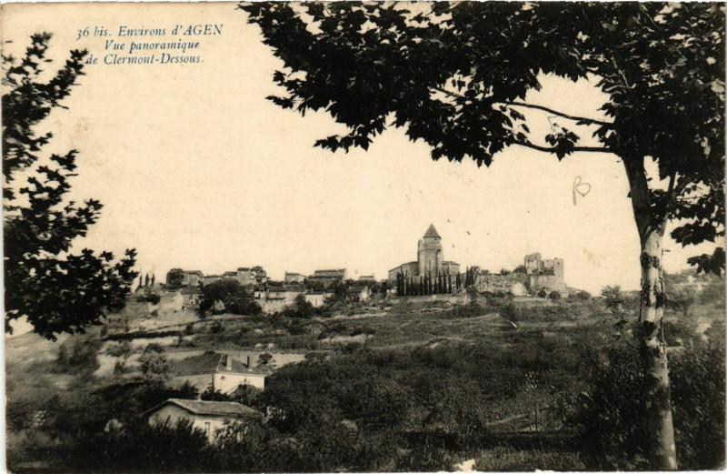 Carte postale ancienne Clermont-Dessous - Vue Panoramique - Env. de Agen à Clermont-Dessous
