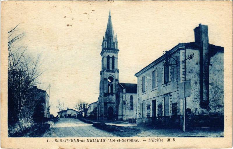 Carte postale ancienne Saint-Sauveur de Meilhan L'Eglise Lot et Garonne à Saint-Sauveur-de-Meilhan