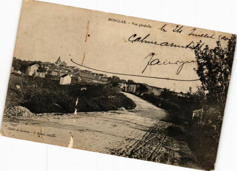 Carte postale ancienne Monclar-Vue générale à Monclar