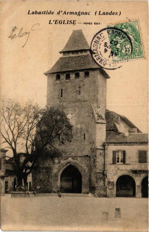 Carte postale ancienne Labastide d'Armagnac - L'Eglise - Landes à Labastide-d'Armagnac
