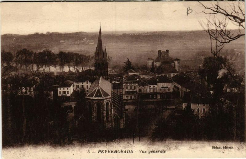 Carte postale ancienne Peyrehorade - Vue Generale - Landes à Peyrehorade