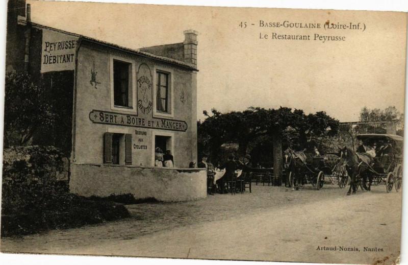 Carte postale ancienne Basse-Goulaine - Le Restaurant Peyrusse à Basse-Goulaine
