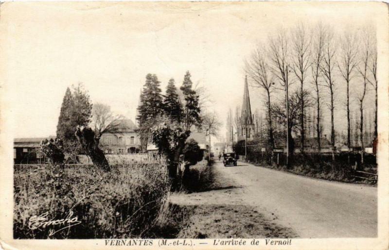 Carte postale ancienne Vernantes L'Arrivée de Vernoit à Vernantes