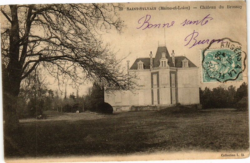 Carte postale ancienne Sait-Sylvain (Maine-et-Loire) - Chateau du Brossay à Brossay
