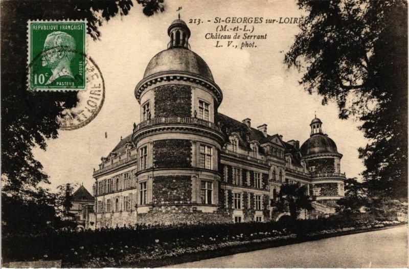 Carte postale ancienne Saint-Georges-sur-Loire Chateau de Serrant à Saint-Georges-sur-Loire