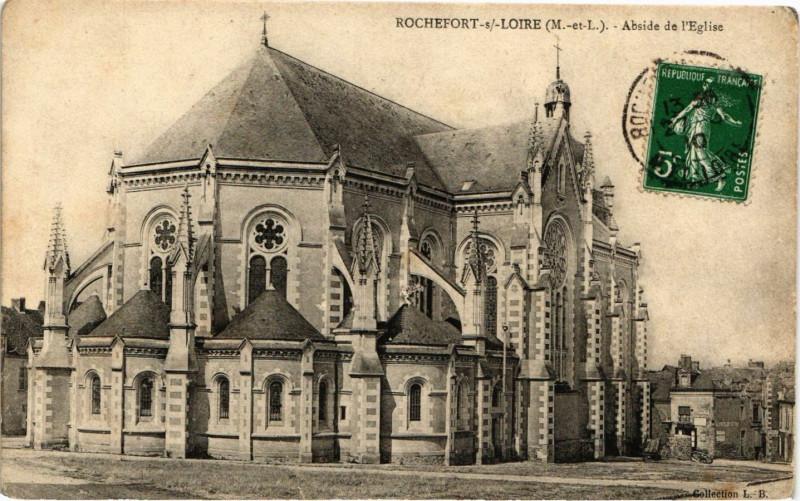 Carte postale ancienne Rochefort-sur-Loire - Abside de l'Eglise à Rochefort-sur-Loire