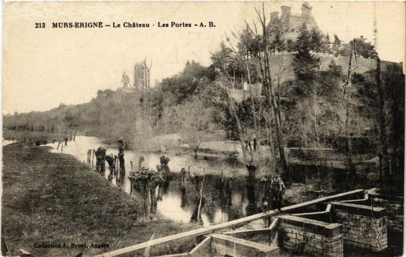 Carte postale ancienne Murs-Erigne - Le Chateau Les Portes à Mûrs-Erigné