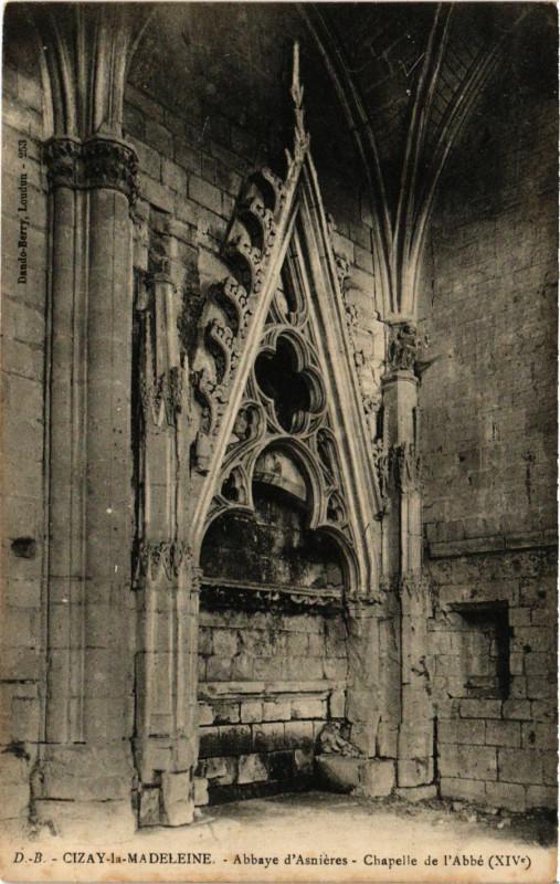 Carte postale ancienne Cizay-la-Madeleine - Abbaye d'Ansieres - Chapelle de l'Abbe à Cizay-la-Madeleine