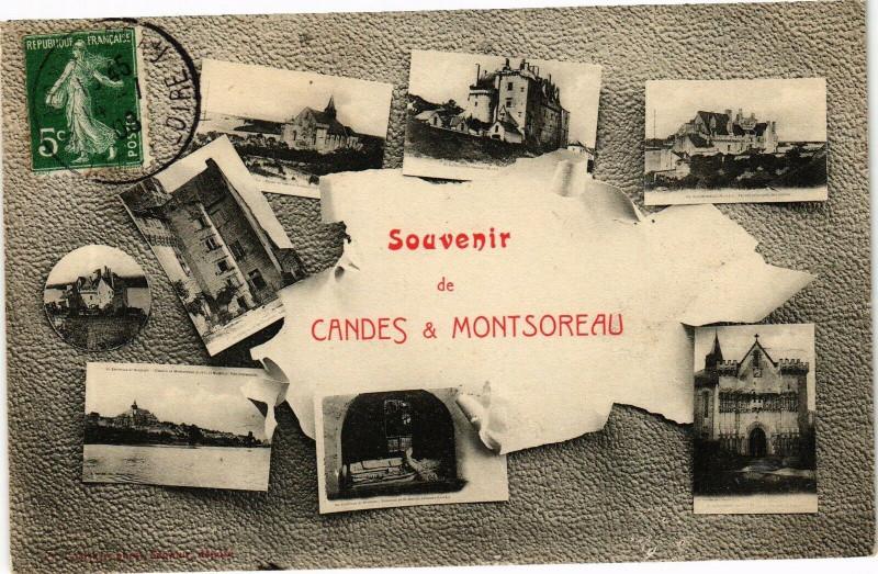 Carte postale ancienne Souvenir de Candes & Montsoreau à Montsoreau