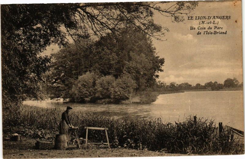 Carte postale ancienne Le Lion-d'Angers - Un Coin du Parc de l'Isle-Briand au Lion-d'Angers