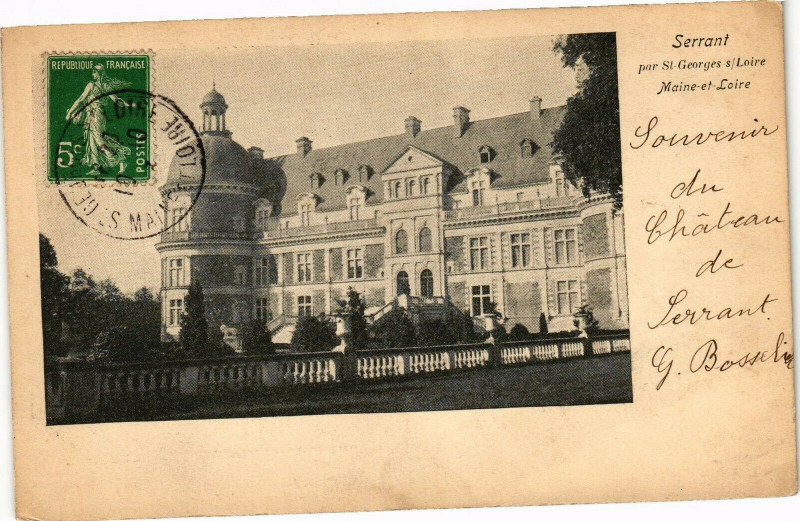 Carte postale ancienne Serrant - par Saint-Georges-sur-Loire - Maine-et-Loire à Saint-Georges-sur-Loire