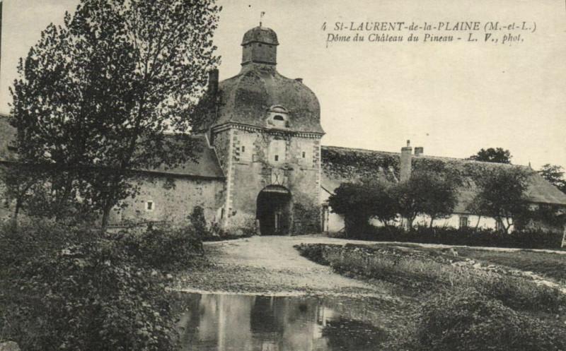 Carte postale ancienne Saint-Laurent - de la Plaine Dome de Chateau du Pineau à La Plaine