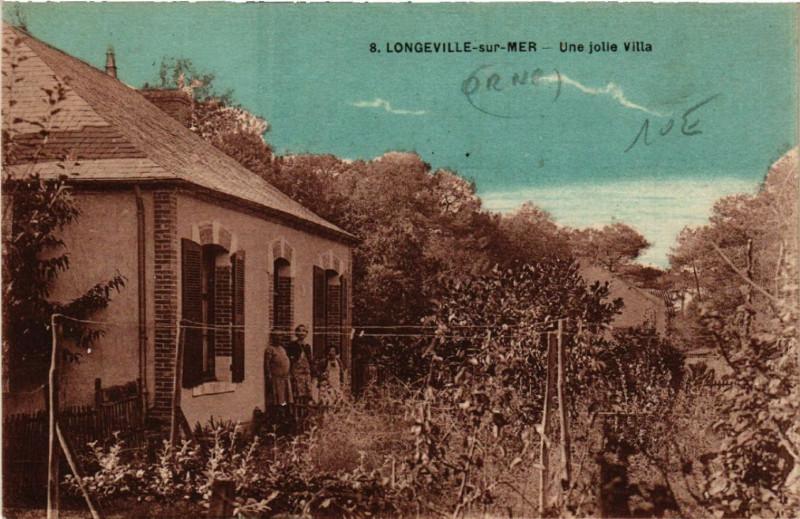 Carte postale ancienne Longeville-sur-Mer Une jolie Villa à Longeville-sur-Mer