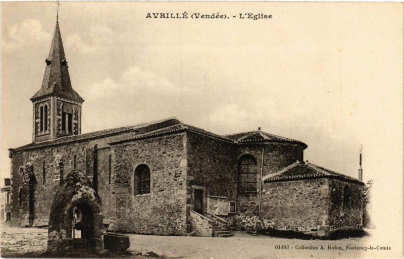 Carte postale ancienne Avrille - L'Eglise à Avrillé