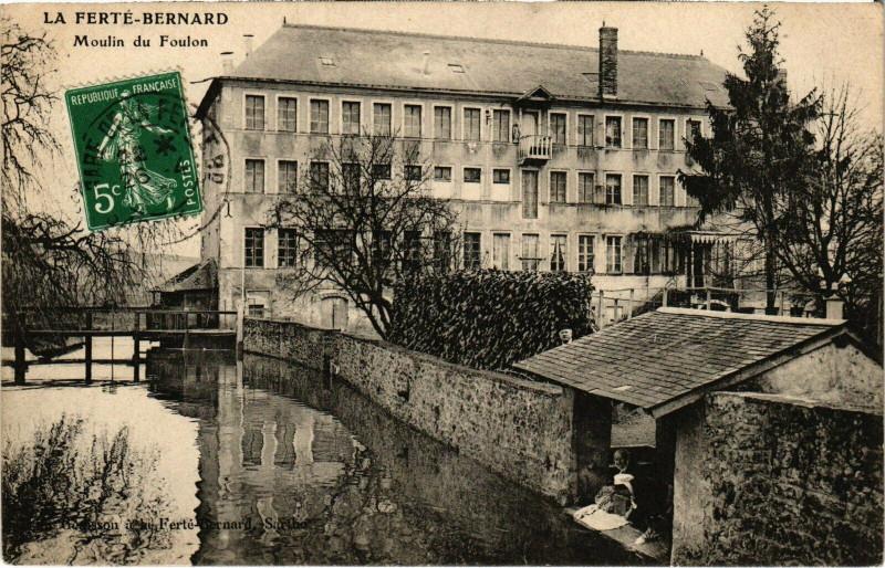 Carte postale ancienne La Ferte-Bernard - Moulin du Foulon à La Ferté-Bernard