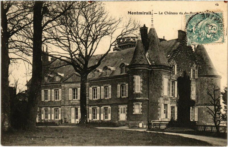 Carte postale ancienne Montmirail - Le Chateau à Montmirail