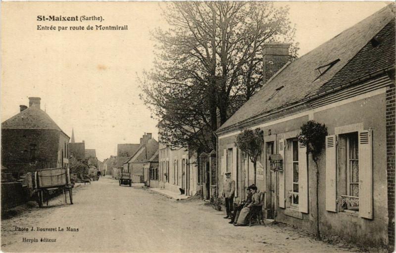 Carte postale ancienne Saint-Maixent Entrée par route de Montmirail à Saint-Maixent