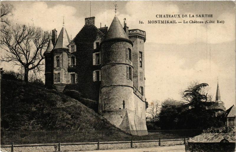Carte postale ancienne Chateaux de la Sarthe Montmirail - Le Chateau à Montmirail
