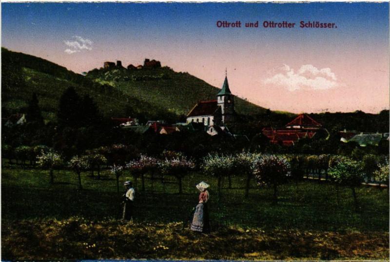 Carte postale ancienne Ottrott und Ottrotter Schlosser à Ottrott