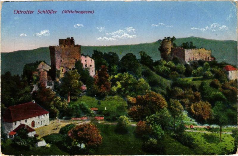 Carte postale ancienne Ottrotter SchloBer à Ottrott