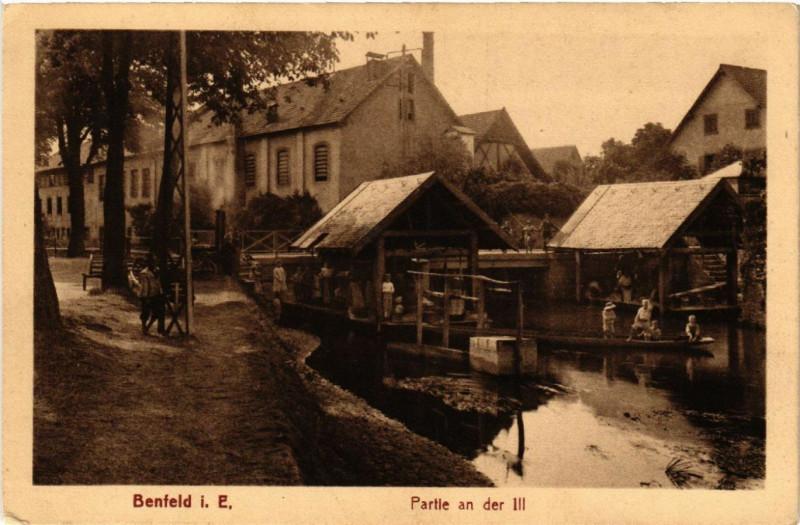 Carte postale ancienne Benfeld Partie an der Ill à Benfeld