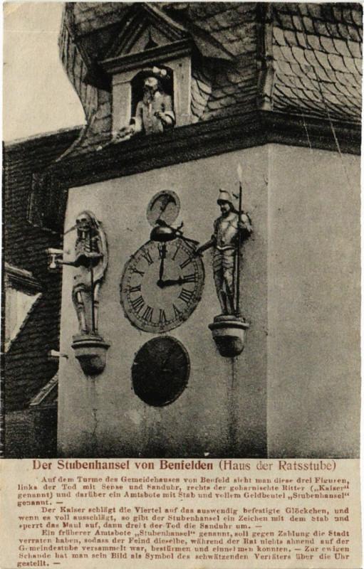 Carte postale ancienne Der Stubenhausel von BENFELDen (Haus der Ratsstube) à Benfeld
