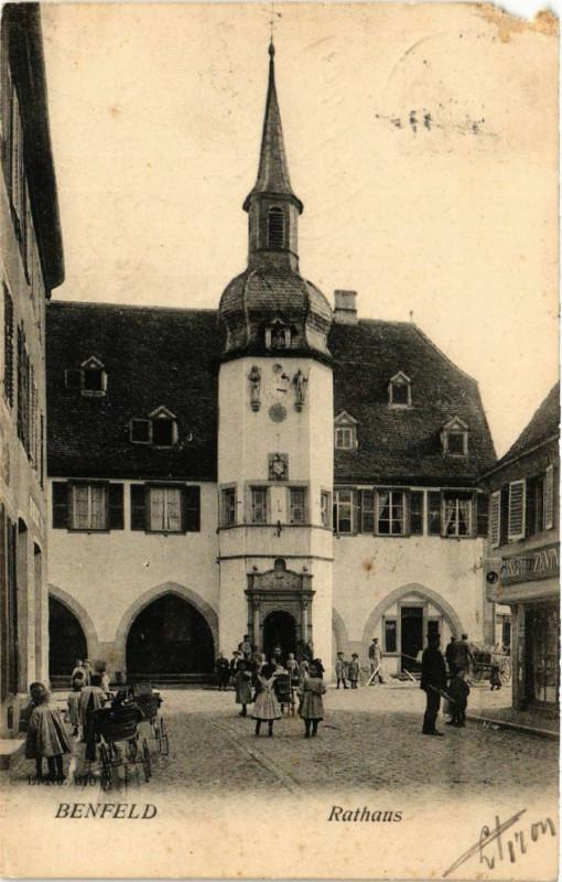 Carte postale ancienne Benfeld - Rathaus à Benfeld