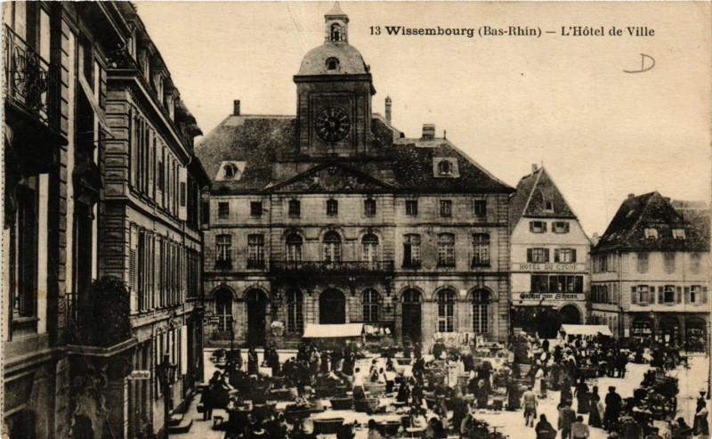 Carte postale ancienne Wissmebourg - L'Hotel de Ville à Villé